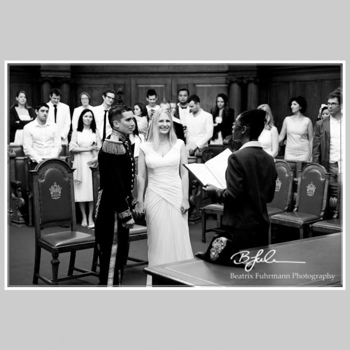 Wedding ceremony at the Chamber Room at Islington Town Hall