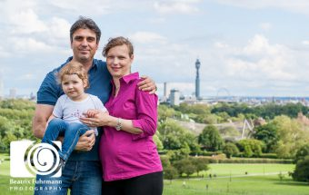 Family photo session on Primrose Hill