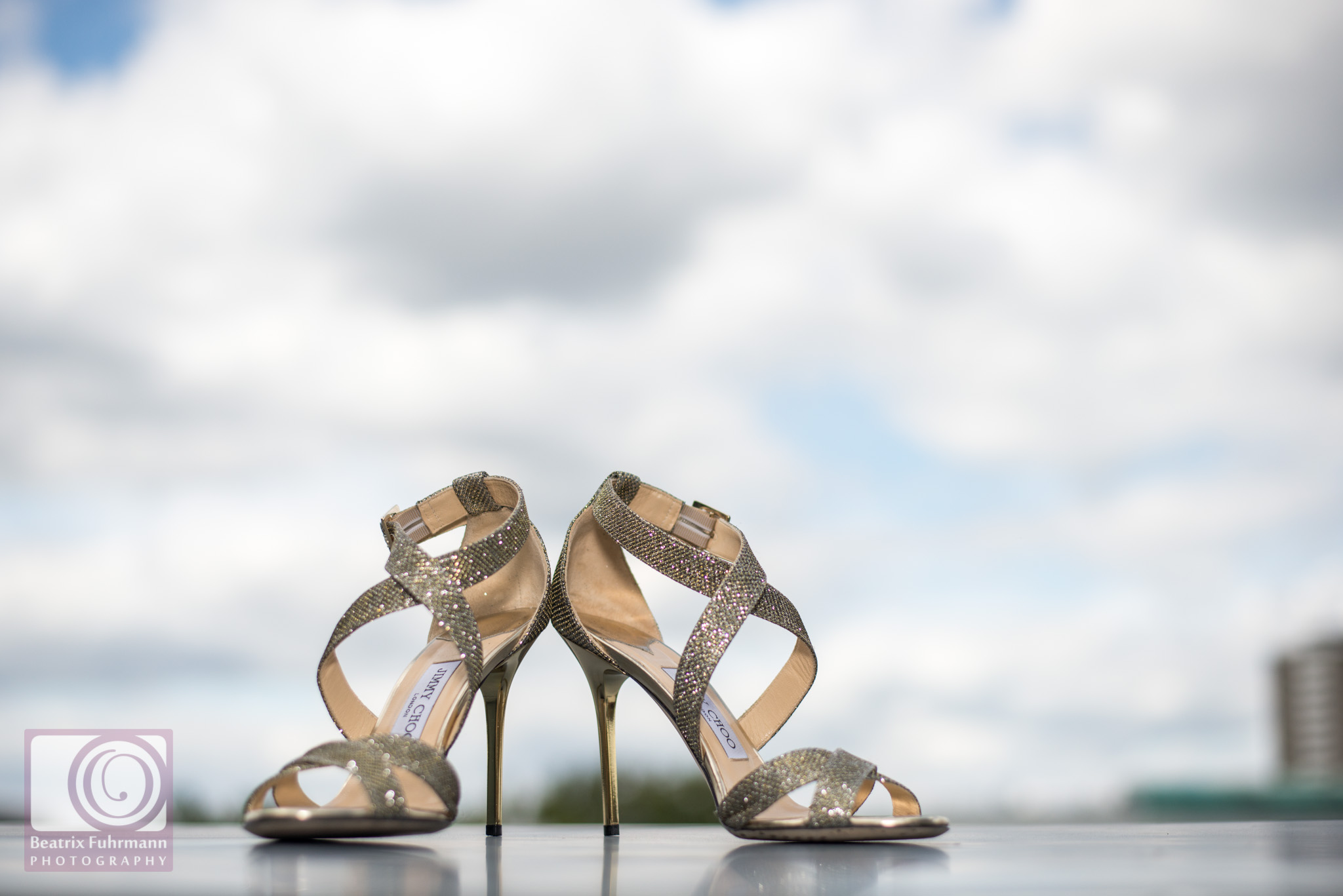 Jimmy Choo bridal shoes - bridal prep at the Zetter Hotel, Clerkenwell