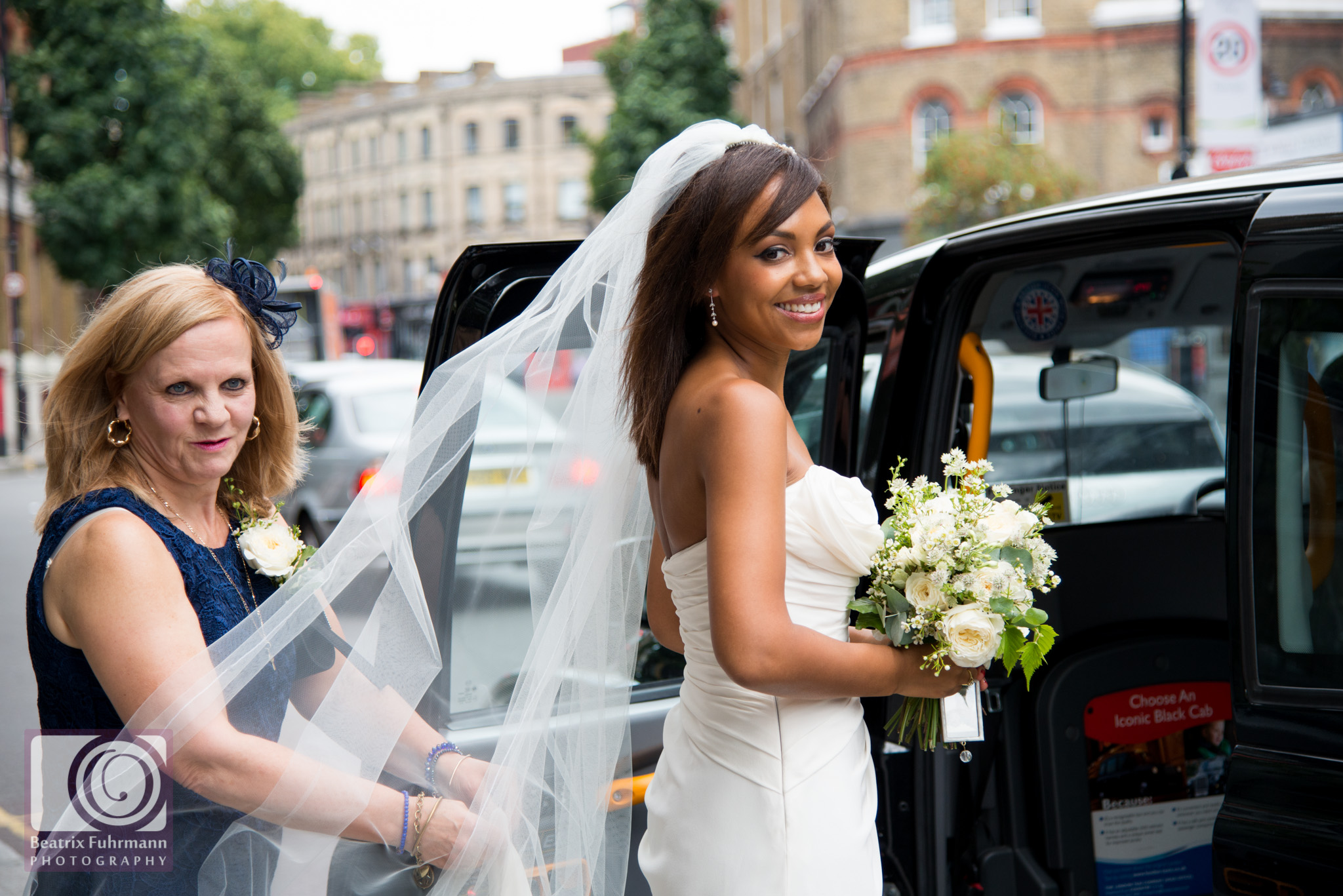 Bride leaving the Zetter Hotel, Clerkenwell