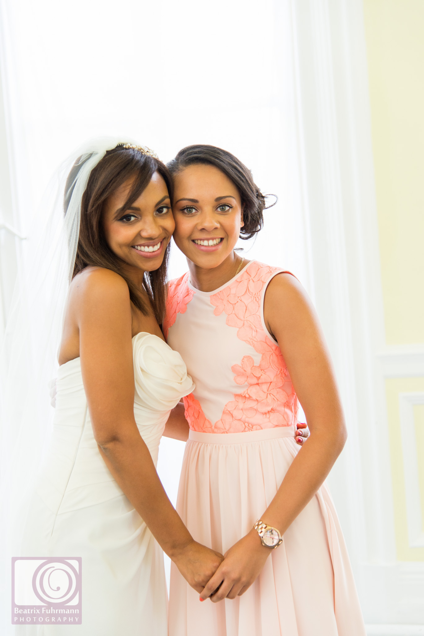 Bride with her sister