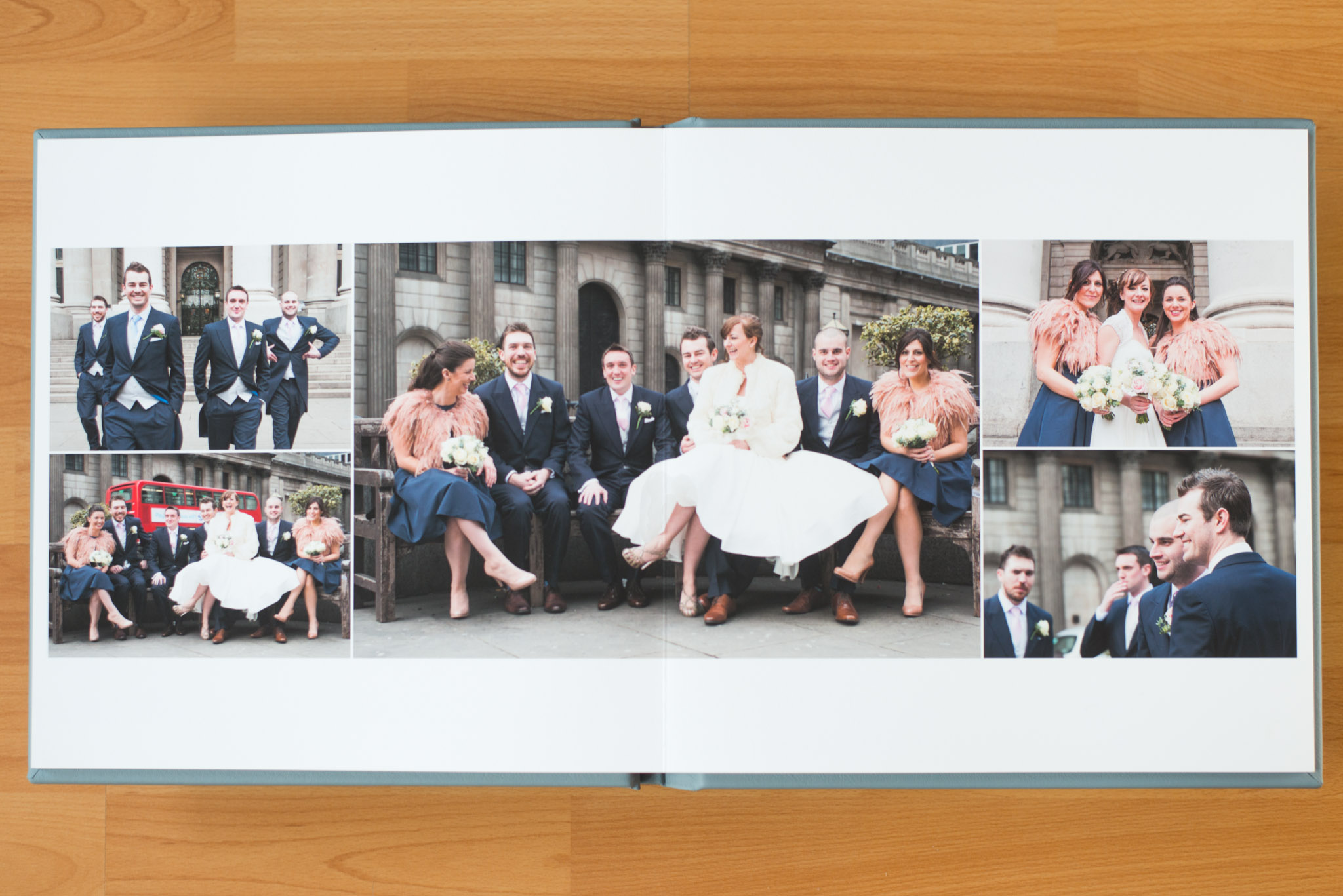Showcasing the bepoke design of one of our wedding albums