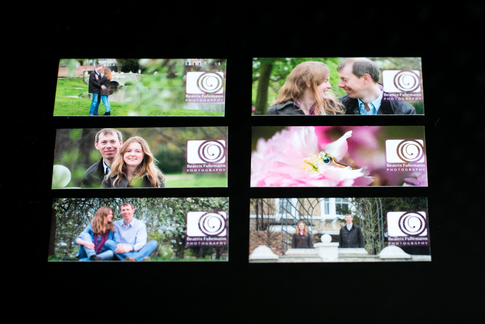 Gallery Link cards for the wedding guests