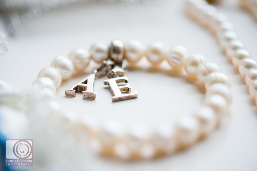 Pearl bracelet with initials