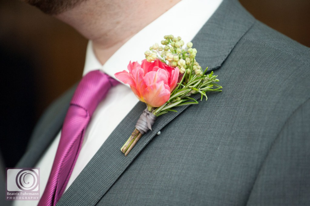 Grooms button hole by Stock & Bloom