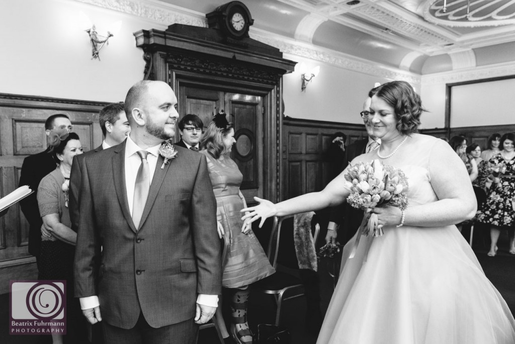 Wedding ceremony at the Richmond Room, Islington Town Hall