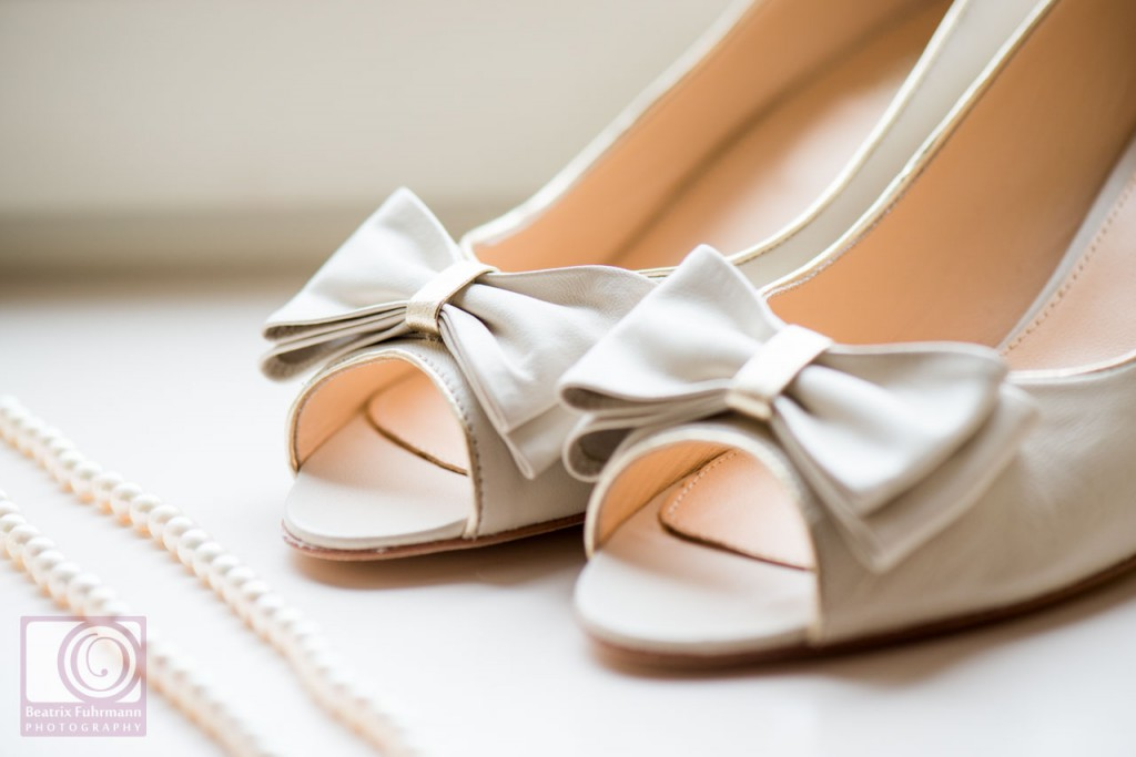 Bride shoe close up