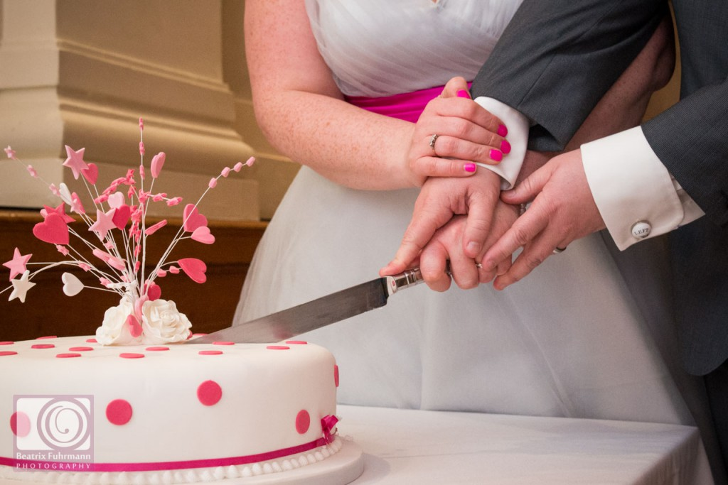 Cake cutting close up