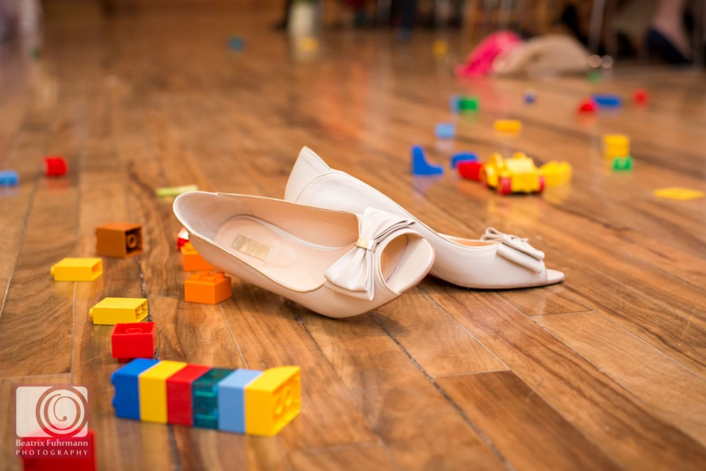 Bridal shoes and lego duplo