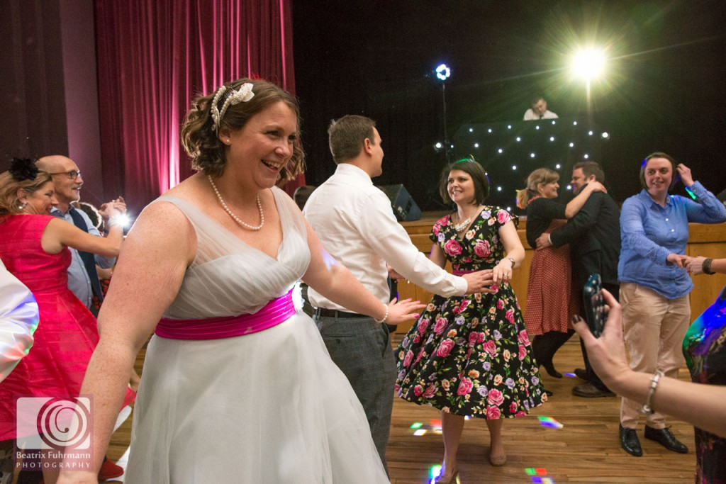 Bride dancing - fifties style Stoke Newington wedding