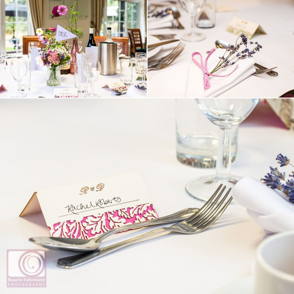 Wedding table decorations with gorgeous laser cut name cards