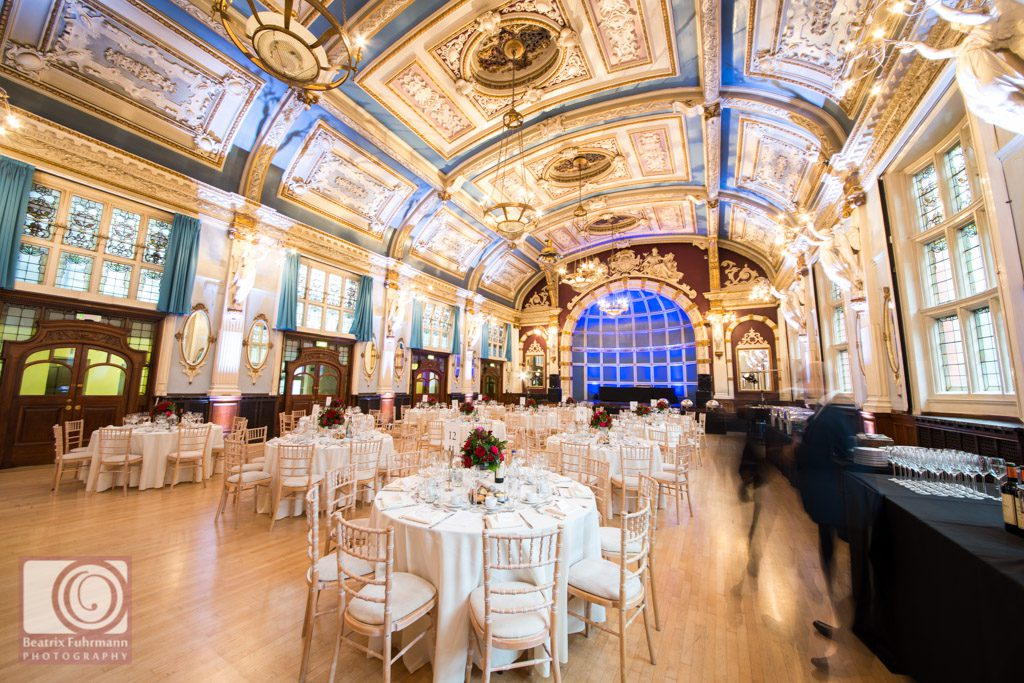 The gorgeous Great Hall - Old Finsbury Town Hall wedding photography