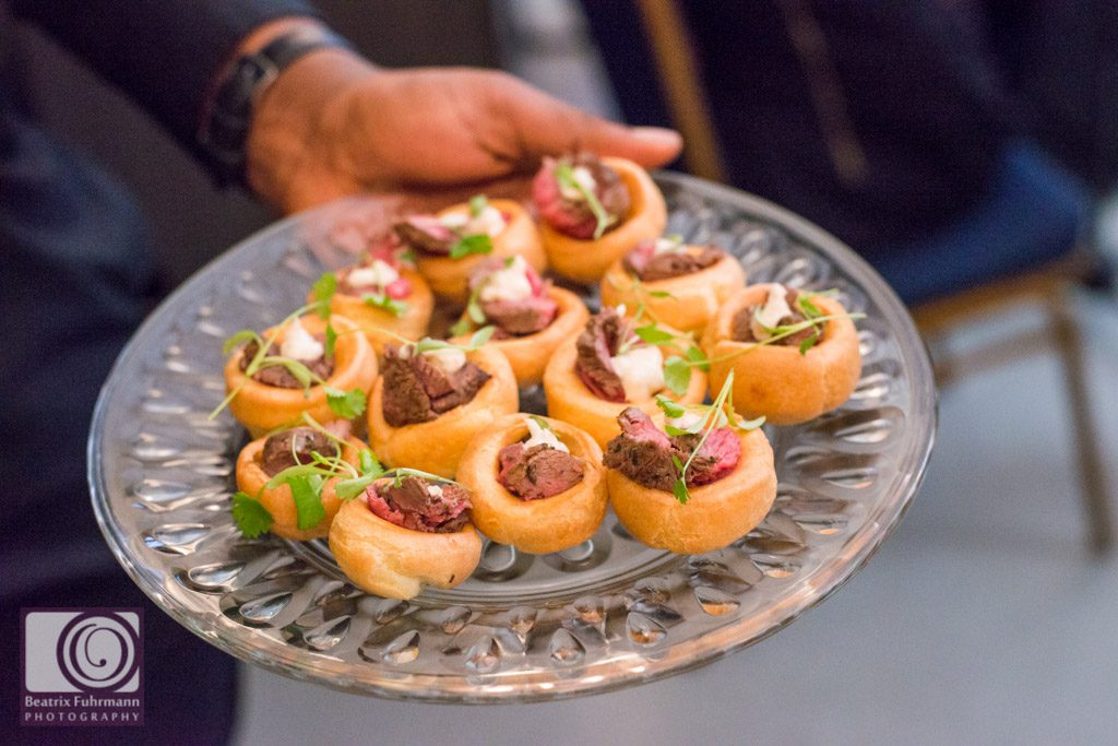 Canapes supplied by Boulevard catering