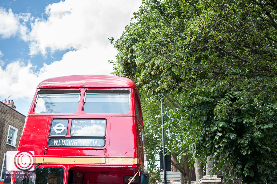 Wedding Special Routemaster and blue sky