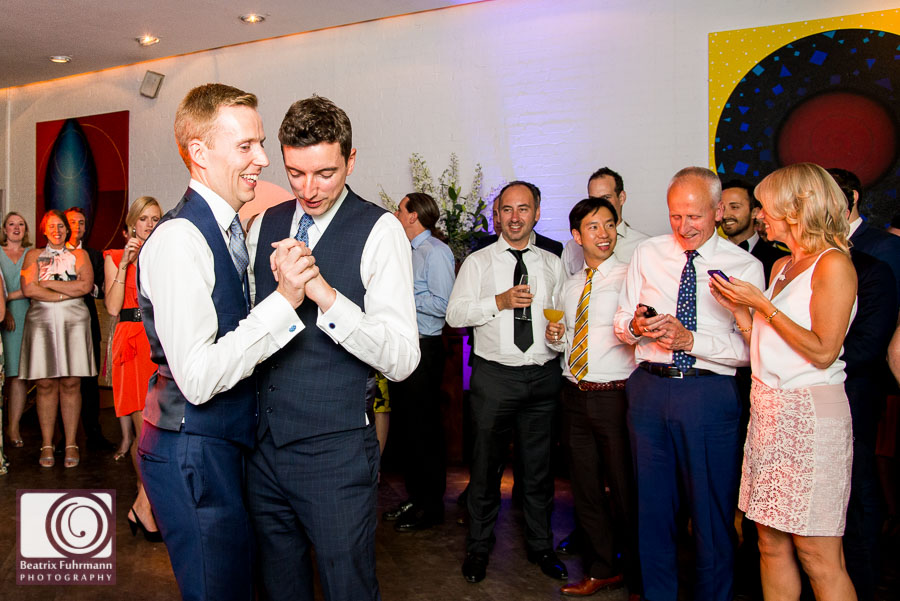 Groom's first dance - Gay London Wedding Photography