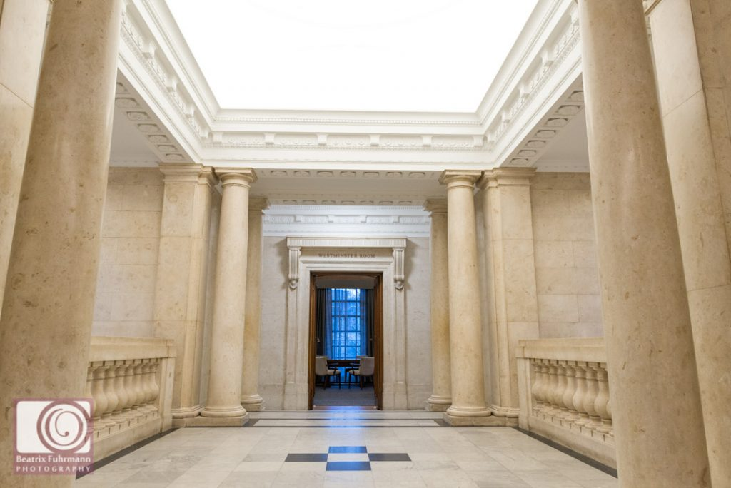 The entrance of the Westminster room.