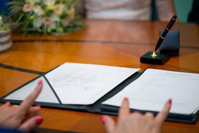 Die Dokumente zur Eheschließung im Standesamt