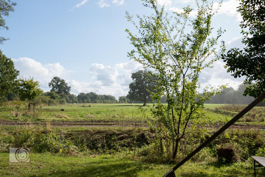 Toller Ausblick auf Felder und Natur auf dem Bio Bauernhof in Hamburg